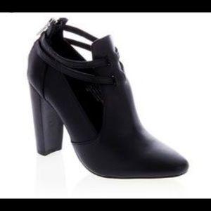 "Hal Rubenstein ""Liara"" Leather Heel Bootie"